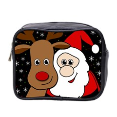 Xmas Selfie Mini Toiletries Bag 2 Side by Valentinaart