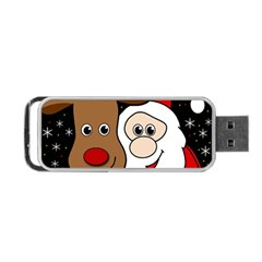 Xmas Selfie Portable Usb Flash (two Sides) by Valentinaart