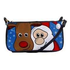 Christmas Selfie Shoulder Clutch Bags by Valentinaart