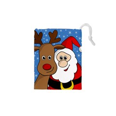 Christmas Selfie Drawstring Pouches (xs)  by Valentinaart