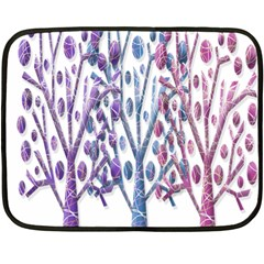 Magical Pastel Trees Fleece Blanket (mini) by Valentinaart