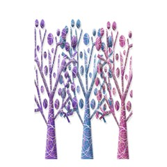 Magical Pastel Trees Shower Curtain 48  X 72  (small)  by Valentinaart