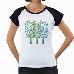 Magical Green Trees Women s Cap Sleeve T by Valentinaart