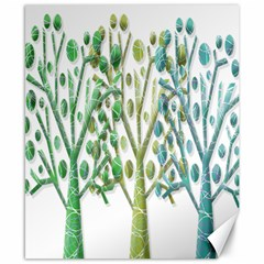 Magical Green Trees Canvas 8  X 10  by Valentinaart