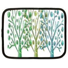 Magical Green Trees Netbook Case (xl)  by Valentinaart