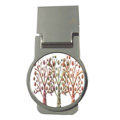 Magical Autumn Trees Money Clips (round)  by Valentinaart