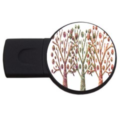 Magical Autumn Trees Usb Flash Drive Round (2 Gb)  by Valentinaart