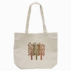 Magical Autumn Trees Tote Bag (cream) by Valentinaart