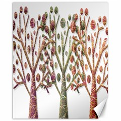 Magical Autumn Trees Canvas 16  X 20   by Valentinaart
