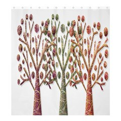 Magical Autumn Trees Shower Curtain 66  X 72  (large)  by Valentinaart