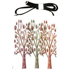 Magical Autumn Trees Shoulder Sling Bags by Valentinaart