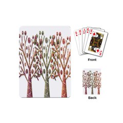 Magical Autumn Trees Playing Cards (mini)  by Valentinaart