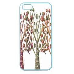 Magical Autumn Trees Apple Seamless Iphone 5 Case (color) by Valentinaart