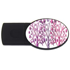 Magical Pink Trees Usb Flash Drive Oval (2 Gb)  by Valentinaart