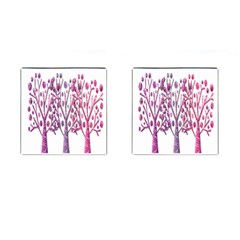 Magical Pink Trees Cufflinks (square) by Valentinaart