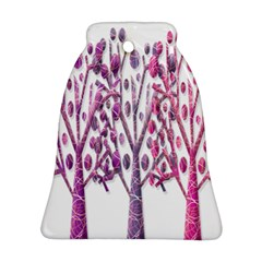 Magical Pink Trees Bell Ornament (2 Sides) by Valentinaart