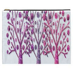Magical Pink Trees Cosmetic Bag (xxxl)  by Valentinaart
