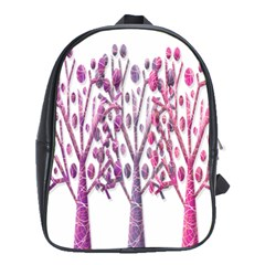 Magical Pink Trees School Bags (xl)  by Valentinaart