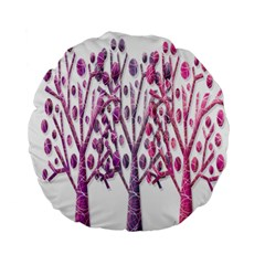 Magical Pink Trees Standard 15  Premium Flano Round Cushions by Valentinaart