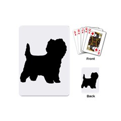 Cairn Terrier Silo Black Playing Cards (Mini)