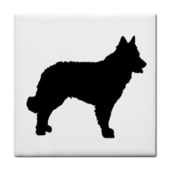 Mudi Fekete Silhouette Tile Coasters by TailWags