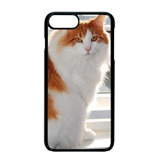Norwegian Forest Cat Sitting 4 Apple iPhone 7 Plus Seamless Case (Black)