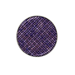 Woven2 Black Marble & Purple Marble (r) Hat Clip Ball Marker (4 Pack) by trendistuff