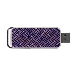 Woven2 Black Marble & Purple Marble (r) Portable Usb Flash (two Sides) by trendistuff