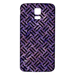 Woven2 Black Marble & Purple Marble (r) Samsung Galaxy S5 Back Case (white) by trendistuff
