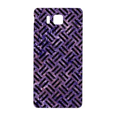 Woven2 Black Marble & Purple Marble (r) Samsung Galaxy Alpha Hardshell Back Case by trendistuff