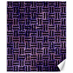 Woven1 Black Marble & Purple Marble (r) Canvas 8  X 10  by trendistuff