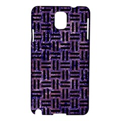 Woven1 Black Marble & Purple Marble (r) Samsung Galaxy Note 3 N9005 Hardshell Case by trendistuff
