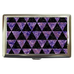 Triangle3 Black Marble & Purple Marble Cigarette Money Case by trendistuff