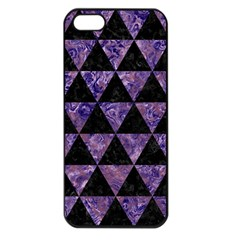Triangle3 Black Marble & Purple Marble Apple Iphone 5 Seamless Case (black) by trendistuff