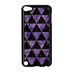 Triangle3 Black Marble & Purple Marble Apple Ipod Touch 5 Case (black) by trendistuff