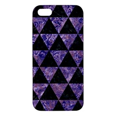 Triangle3 Black Marble & Purple Marble Apple Iphone 5 Premium Hardshell Case by trendistuff
