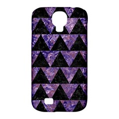Triangle2 Black Marble & Purple Marble Samsung Galaxy S4 Classic Hardshell Case (pc+silicone) by trendistuff