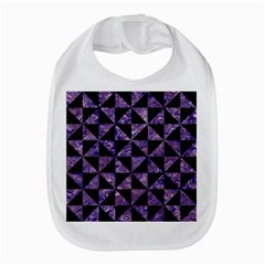 Triangle1 Black Marble & Purple Marble Bib by trendistuff