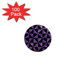 Triangle1 Black Marble & Purple Marble 1  Mini Magnet (100 Pack)  by trendistuff
