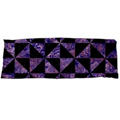 Triangle1 Black Marble & Purple Marble Body Pillow Case (dakimakura)