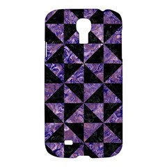 Triangle1 Black Marble & Purple Marble Samsung Galaxy S4 I9500/i9505 Hardshell Case by trendistuff