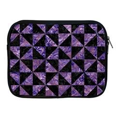 Triangle1 Black Marble & Purple Marble Apple Ipad Zipper Case by trendistuff