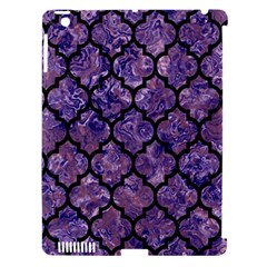 Tile1 Black Marble & Purple Marble (r) Apple Ipad 3/4 Hardshell Case (compatible With Smart Cover) by trendistuff