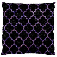 Tile1 Black Marble & Purple Marble Large Cushion Case (one Side) by trendistuff
