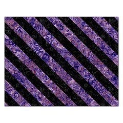 Stripes3 Black Marble & Purple Marble (r) Jigsaw Puzzle (rectangular) by trendistuff