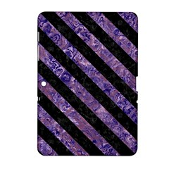 Stripes3 Black Marble & Purple Marble (r) Samsung Galaxy Tab 2 (10 1 ) P5100 Hardshell Case  by trendistuff