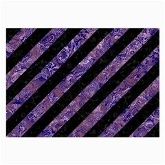 Stripes3 Black Marble & Purple Marble Large Glasses Cloth (2 Sides) by trendistuff