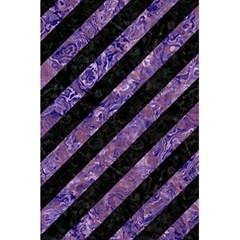 Stripes3 Black Marble & Purple Marble 5 5  X 8 5  Notebook by trendistuff