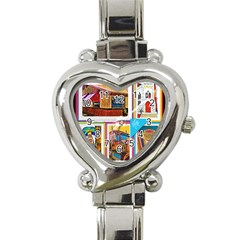 Picreations Vi Heart Italian Charm Watch by PiCreations