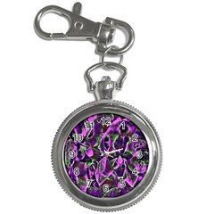 Floral  Fantasy, Pink Key Chain Watches by MoreColorsinLife